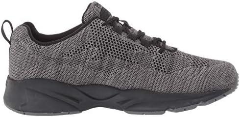 Propet Mens Stability Fly Sneaker, Dk Grey/Lt Grey,12 Narrow