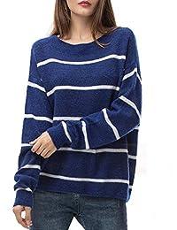 Woolen Bloom Women's Oversized Loose Sweater Crew Neck Pullover Lightweight Long Sleeve Tops for Women Fall Winter