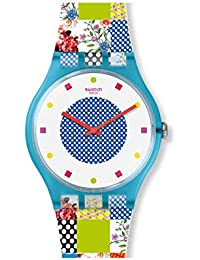 Originals Quilted Time White Dial Silicone Strap Unisex Watch SUOS108