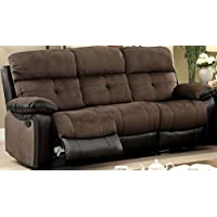 Furniture of America CM6870-SF Hadley I Espresso Reclining Furniture, Brown/Espresso