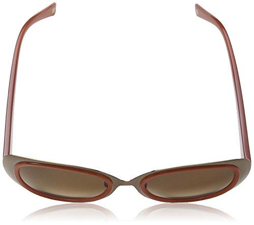 Escada - Lunette de soleil SES861 Papillon  - Femme Transparent red & brown detail frame / brown gradient lens