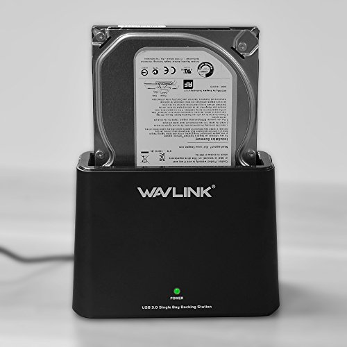 Environmental Enclosure - WAVLINK USB 3.0 to SATA External Hard Drive Docking Station for 2.5/3.5 Inch SATA I/II/III HDD SSD, Support 8TB and UASP, Tool-Free- Black