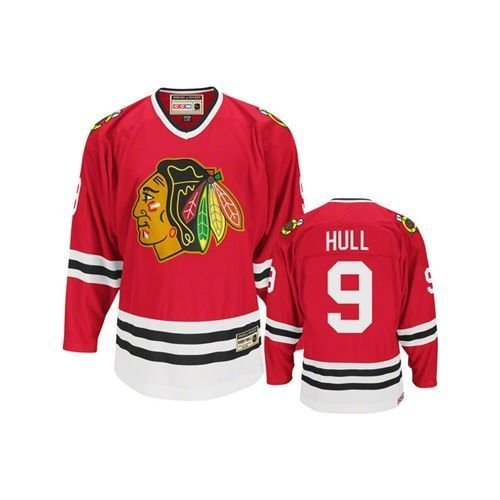 best service e1319 5f89f Reebok Bobby Hull #9 Chicago Blackhawks CCM Heroes of Hockey Jersey