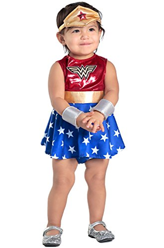 [Princess Paradise Baby Girls' Wonder Woman Costume Dress and Diaper Cover Set, As Shown, 12 to 18] (Princess Costumes For Babies)
