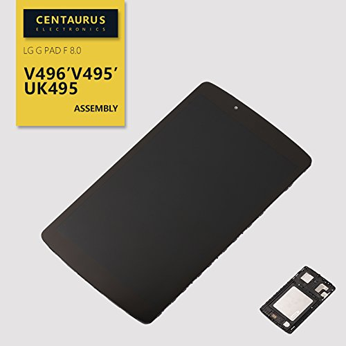Assembly For LG G pad F 8.0 V496 V495 UK495 LCD Display Touch Digitizer Screen + Frame (Black) Full Replacement - Screen Replacement Lcd Lg