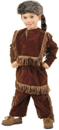 Daniel Boone Davy Crockett Costume with Raccoon Skin Cap (Small / 4-6) -