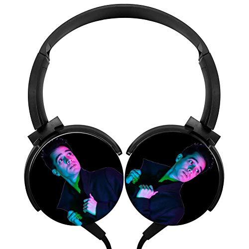 PjNnt Pa-Nic at The Disco Deep Bass Wired Headphones Stereo Hi-Fi Over-Ear Earphone Black