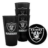 Oakland Raiders Plastic Pint Glass Set