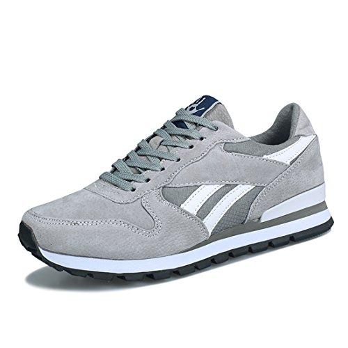 Heren Outdoor Sport Hardloopschoenen Lichtgewicht Casual Sneakers 8003 Lichtgrijs