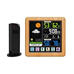liumiKK LCD Digital Touch Screen Weather Station Clock Thermometer Hygrometer Wireless Voice Control