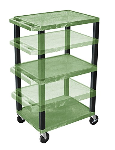 Offex OF-WT1642GE-B Tuffy Multi-Purpose Cart Black Legs, Green
