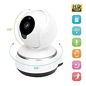 Zonlaky Wireless IP Security Surveillance System , 720p hd night vision two-way audio network monitor camera, indoor Camera for Pet Baby Monitor, Home Motion Camera ( with TF card slot) from Zonlaky