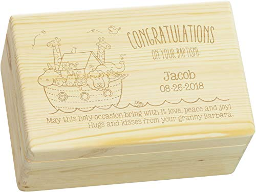 LAUBLUST Engraved Wooden Gift Box - Size L,