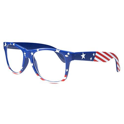 NON-Prescription USA American Patriot Flag Glasses, - Prescription Sunglasses Usa