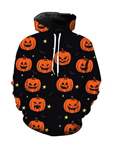 WAZZIT Unisex 3D Printed Long Sleeve Hoodies Hooded Casual Sweatshirts Pocket Pullover, XXXL ()