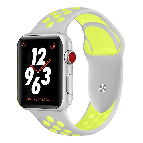 Sport Band Compatible Apple Watch 42mm 38mm,Soft Silicone Bracelet Replacement Wristbands Compatible Apple Watch Sport Series 3 Series 2 Series 1 ()