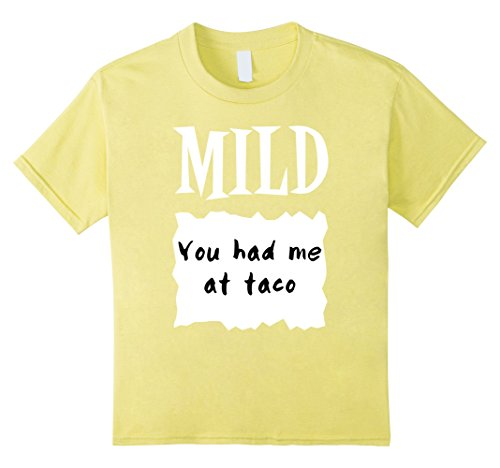 Halloween Costumes For Groups Of 6 (Kids GROUP HALLOWEEN COSTUME T-shirt MILD HOT SAUCE PACKET Shirt 6 Lemon)