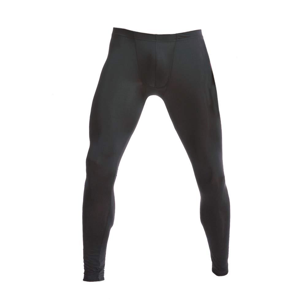 Thermal Underwear Middle-Rise Men Ultra-Soft Long Johns Winter Warm Black L by wear2me