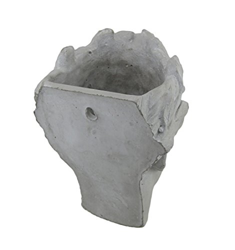 Cement Planters Classic Greek Lady Indoor/Outdoor Wall Mounted Cement Head Planter 7 X 7.5 X 5 Inches Gray by Zeckos (Image #2)