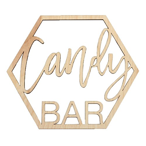 Koyal Wholesale Wood Candy Bar Sign, Wedding Display, Party Banner, Event Decorations For Wedding Engagement Bridal Shower Baby Shower Birthday Party (Candy Bar) by Koyal Wholesale (Image #2)