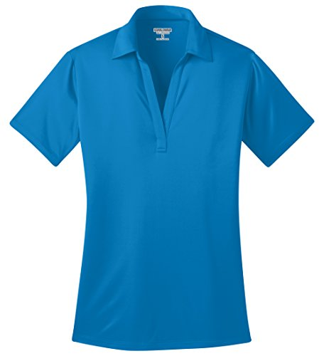Kamal Ohava Women's Short Sleeve Performance Polo Shirt, 3XL Plus,Brilliant Blue