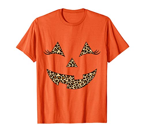 Leopard Print Face For Halloween (Cute Leopard Print Jack O Lantern Pumpkin Face Halloween)