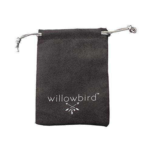 WILLOWBIRD Sterling Silver Petite 7 Multi Colored Beaded Adjustable Charm Bracelet for Women Various Styles