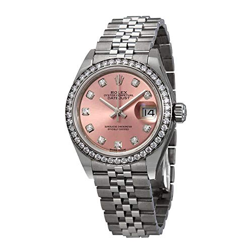 Rolex Lady Datejust Automatic Pink Diamond Dial Ladies Jubilee Watch 279384PDJ (Rolex Datejust Lady 31 Rose Gold Price)