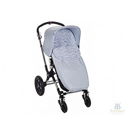 Saco para silla de carro de paseo Paz Rodriguez universal DOME azul celeste. Con respaldo