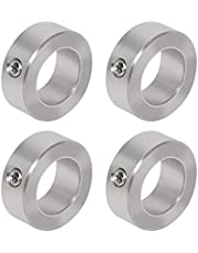 "AZSSMUK 3/8"" 1/2"" 5/8"" 3/4"" 1"" Bore Axle Shaft Collars Pipe Collars of Metal Stainless Steel w/Set Screw"