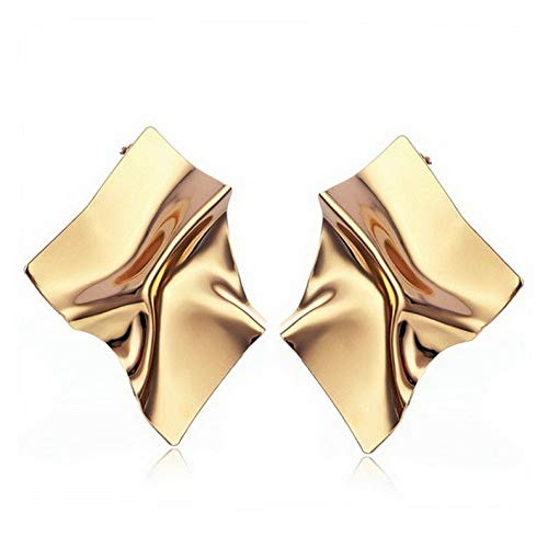 Endicot Fashion Exaggerated Gold/Silver Geometric Irregular Large Stud Earrings Jewelry   Model ERRNGS - 3441  