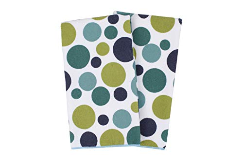 - Ritz Royale Collection 100% Polyester Microfiber, Multi-Purpose, Polka Dot Print Kitchen Towel Set, 25