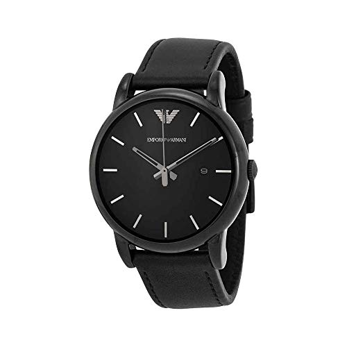 Emporio Armani Men's AR1732 Dress Black Leather Watch (Dress Watch Black Leather)
