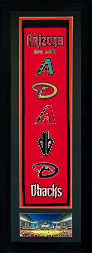 MLB Arizona Diamondbacks Legends Never Die Team Heritage Banner with Photo Double Matted & Framed, 15 x 42
