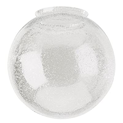 "Westinghouse 8156000 3-1/4"" Hand-Blown Clear Seeded Glass Globe"