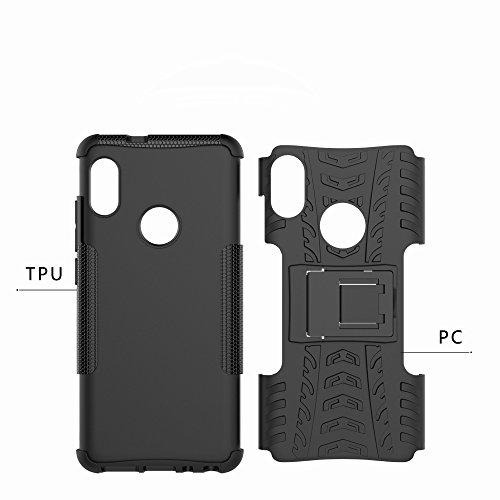 OFU®Para Xiaomi Redmi Note 5 Pro 5.99 Smartphone, Híbrido caja de la armadura para el teléfono Xiaomi Redmi Note 5 Pro 5.99 resistente a prueba de golpes contra la lucha de viaje accesorios esencial negro