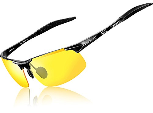 ATTCL Men's HOT Fashion Driving Polarized Sunglasses for Men Al-Mg metal Frame - Top Driving Night Glasses Rated