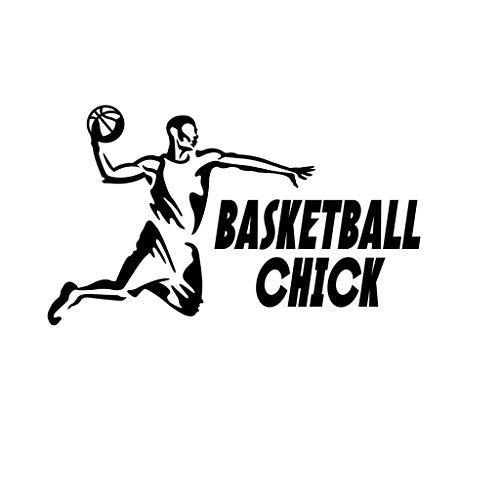PressFans Basketball Chick Basketball Sport Decal Sticker