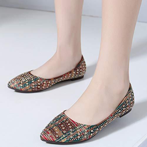 Y Beige Moda Planos Bastante Sandalias Femeninos Azul De Zapatos Rojo Verde Las Mujer Verano Casuales Mujeres Primavera qtxRaTF