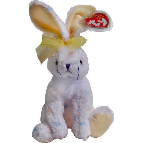 (Carrots the Spotted White Easter Bunny Rabbit - Ty Beanie Babies)