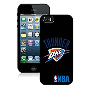New Custom Design Cover Case For iPhone 5s Generation Oklahoma City Thunder 3 Black Phone Case