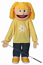 "25"" Katie, Peach Girl, Full Body, Ventriloquist Style Puppet"