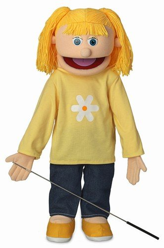 Katie, Peach Girl, Full Body, Ventriloquist Style Puppet, (25 Inches)