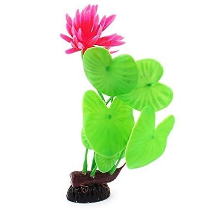 eDealMax Emulación de plástico acuario en Forma de corazón hojas de las plantas 7.9 pulgadas Verde