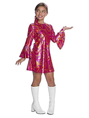 Charades Little Girl's Fuchsia Swirl Disco Diva Childrens Costume, as Shown, Medium ()