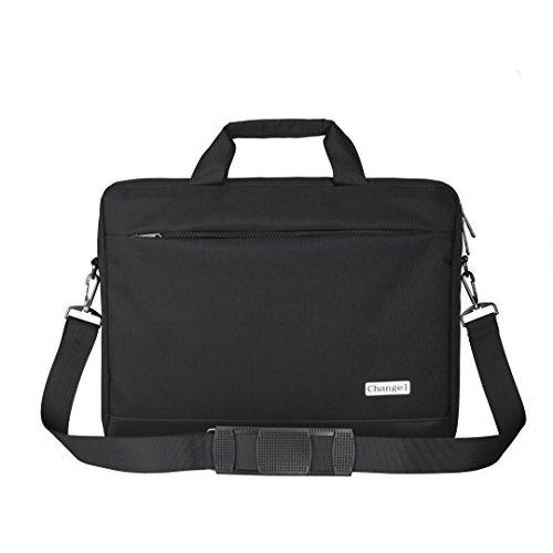 15.6 inch Laptop Bag, changel Laptop Case, Briefcase Messenger Shoulder Bag for Men Women, College Students Business People Office Workers Professional Computer, Notebook, Table, MacBook Bag, Black ()