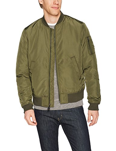 Goodthreads Men's Bomber Jacket, Olive, Large