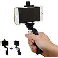 SIOTI Hand Grip Handle Pistol Grip Handheld Stabilizer Phone Holder Support with Multifunction for iPhone Samsung Nexus LG HTC Huawei and other Smartphones,Gopro Hero 3 4 5 6 and other Action Cameras