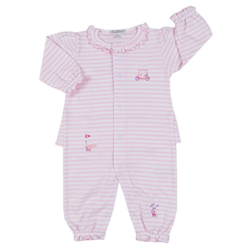 Pima Golf (Kissy Kissy Baby-Girls Infant Mini Golf Stripe Playsuit-Pink And White-0-3 Months)