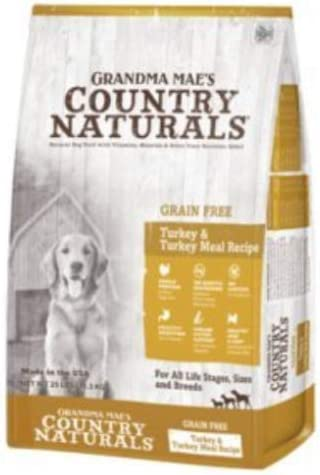 Country Naturals Grandma Mae's Grain Free Single Protein Turkey Turkey Meal Recipe Dry Dog Food